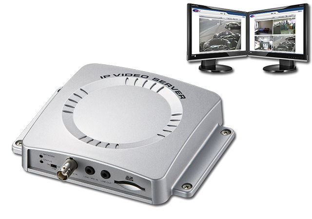 IP-VS Network Video Server turns any CCTV camera into an IP camera and Records to SD CARD